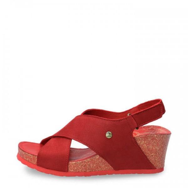 Panama Jack Nobuck Rojo red